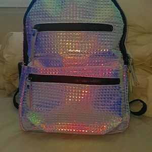 Typo Holographic Mid sized Backpack